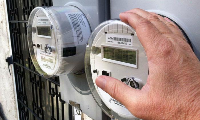 Показания электронного счётчика электроэнергии