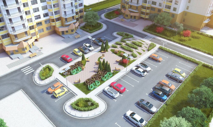 Как организовать парковку на придомовой территории