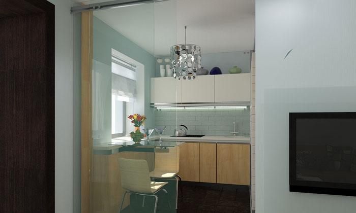 Объединение кухни с комнатой - кухня-гостиная (  фото, планировка)